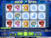 Disco Spins - w trakcie gry